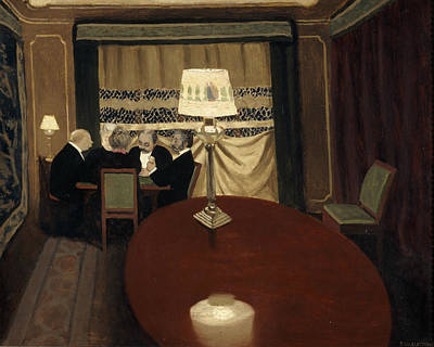 The Poker Game Art Print by Felix Vallotton