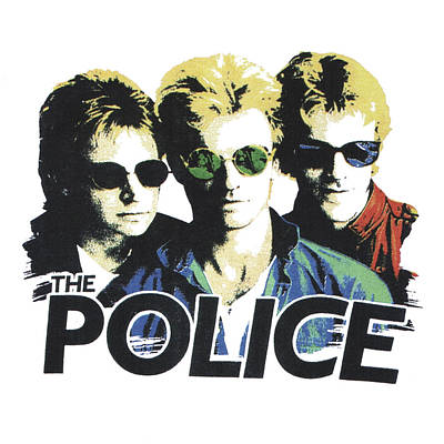 Digital Art - The Police by Gina Dsgn