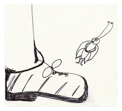 Drawing - The Police Investigate by Sophia Landau