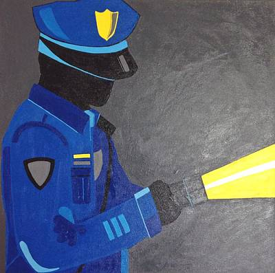 Law Enforcement Art Painting - The Police Officer by Sarah Jane Thompson