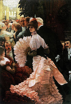 Digital Art - The Political Lady by James Jacques Joseph Tissot