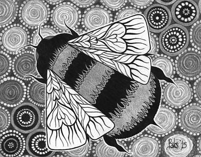 Drawing - The Pollinator by Barb Cote