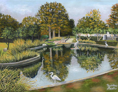 Painting - The Pond At Maple Grove by Madeline Lovallo