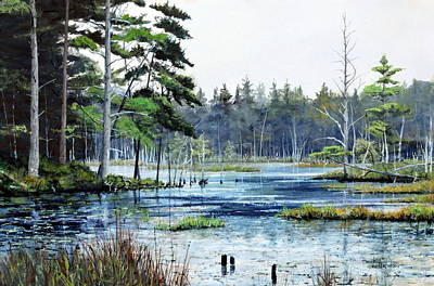 Painting - The Pond by Bill Hudson