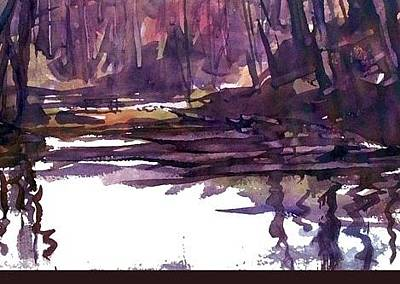 Painting - The Pond by JULES Buffington
