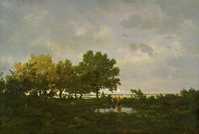 Rousseau Painting - The Pond, La Mare by Theodore Rousseau