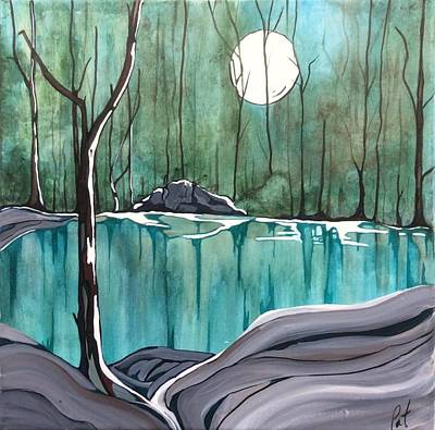 Painting - The Pond by Pat Purdy