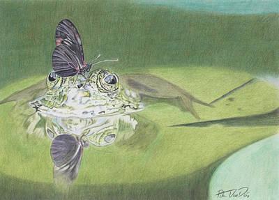 Lily Pad Pond Drawing - The Pond by Peter Van Dien