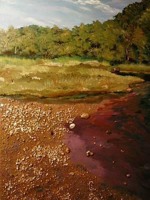 Painting - The Pond by Ray Khalife