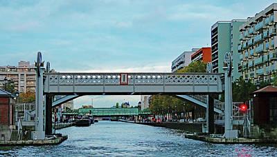 Photograph - The Pont De Flandre Lift Bridge In The 19th Arrondissement In Paris, France by Richard Rosenshein