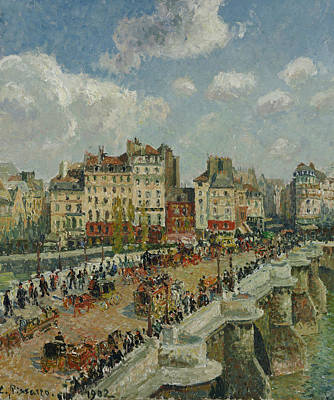 French Cities Painting - The Pont Neuf  by Camille Pissarro