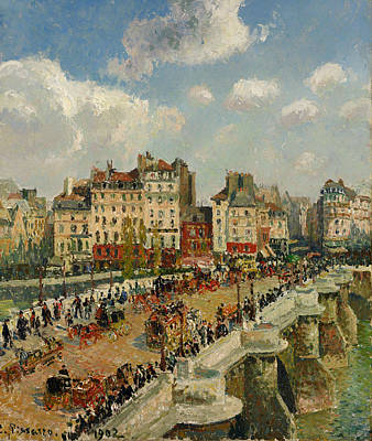 Pissaro Painting - The Pont - Neuf by Mountain Dreams