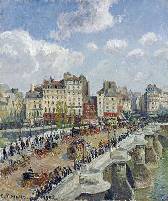 Public Holiday Painting - The Pont - Neuf, Paris by Camille Pissarro