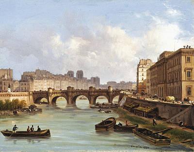 The Pont Neuf. Paris Art Print by Giuseppe Canella