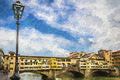 Photograph - The Ponte Vecchio Bridge by Wade Brooks
