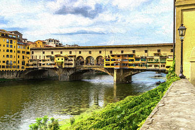 Photograph - The Ponte Vecchio Photo Painting 7k_dsc2439_09152017 by Greg Kluempers
