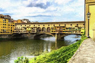 Photograph - The Ponte Vecchio Photo Painting 7k_dsc2439_09152017 by Greg Kluempers