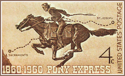 The Pony Express Centennial Stamp Art Print
