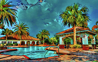 Photograph - The Pool 16518 by Ray Shrewsberry