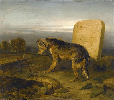 Painting - The Poor Dog. The Shepherd's Grave by Edwin Landseer