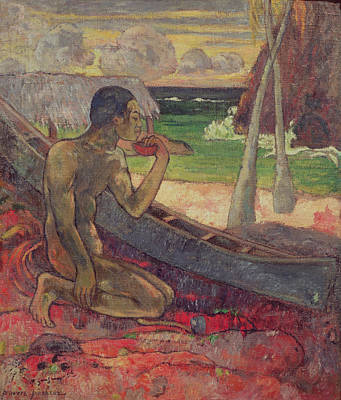 Anglers Painting - The Poor Fisherman by Paul Gauguin