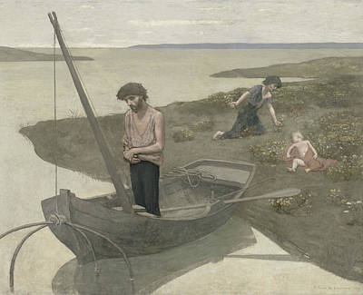 Woman Fishing Painting - The Poor Fisherman by Pierre Puvis de Chavannes