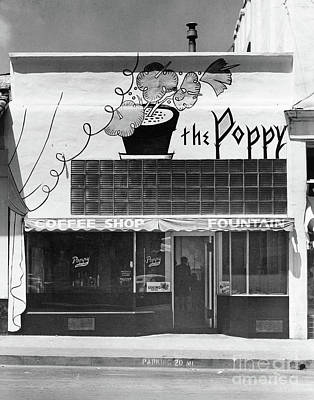 Photograph - The Poppy, Coffee Shop, Fountain, Alvarado Street, Monterey Circ by California Views Archives Mr Pat Hathaway Archives
