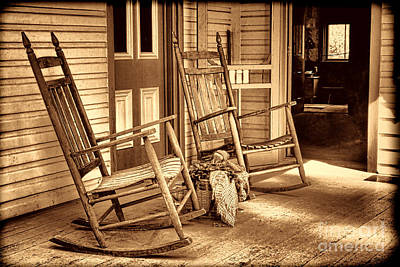 Photograph - The Porch by American West Legend By Olivier Le Queinec