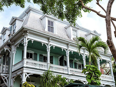 Photograph - The Porch Key West by John Rizzuto