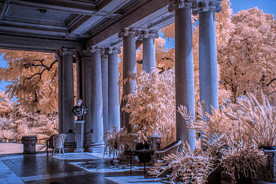 Photograph - The Porch Of The European Collection Art Gallery At The Huntington Library In Infrared by Randall Nyhof