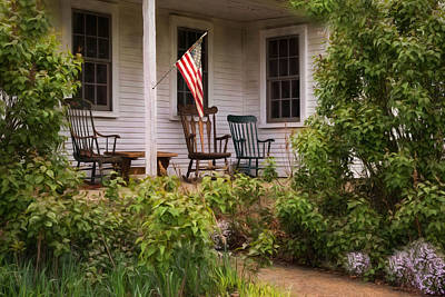 Photograph - The Porch by Robin-Lee Vieira