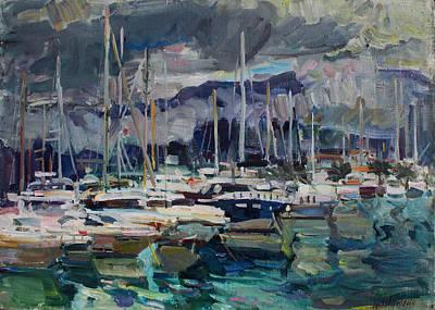 Painting - The Port by Juliya Zhukova