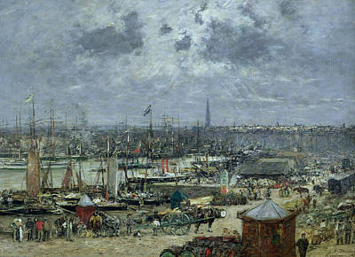 The Port Of Bordeaux Print by Eugene Louis Boudin