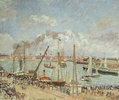 Midi Painting - The Port Of Le Havre In The Afternoon Sun by Camille Pissarro