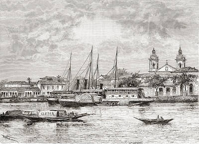The Port Of Manaus, Amazonas State Art Print