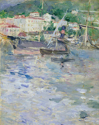 Painting - The Port Of Nice by Berthe Morisot