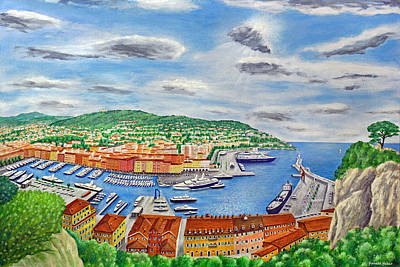 Cote D Painting - The Port Of Nice by Ronald Haber
