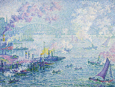Divisionist Painting - The Port Of Rotterdam by Paul Signac