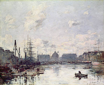 The Port Of Trade Art Print by Eugene Louis Boudin