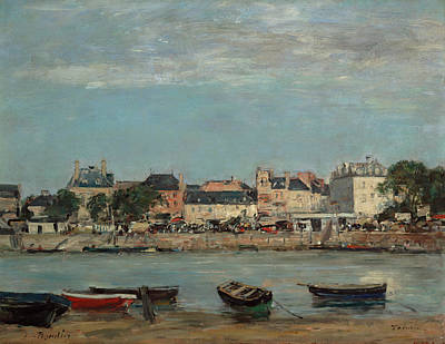 Painting - The Port Of Trouville by Eugene Louis Boudin