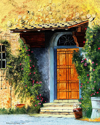 Old World Landscape Painting - The Portal by Don Griffiths