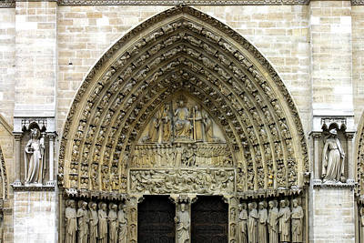Lintels Photograph - The Portal Of The Last Judgement Of Notre Dame De Paris by Fabrizio Troiani