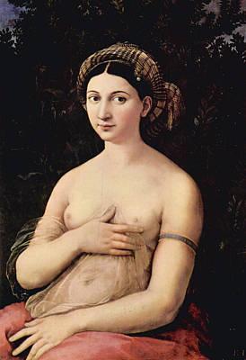 Seat Painting - The Portrait Of A Young Woman, La Fornarina by Raffaello Sanzio
