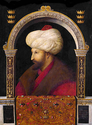 Painting - The Portrait Of Ottoman Sultan Mehmed The Conqueror by Gentile Bellini