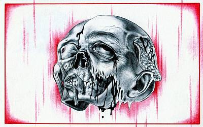 Dead Heads Drawing - The Portriat by Aaron