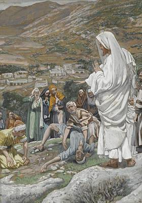 Israeli Painting - The Possessed Boy At The Foot Of Mount Tabor by Tissot