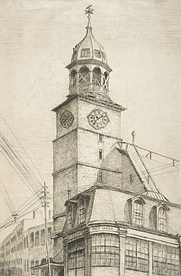 Relief - The Post Office, Middle Dutch Church  by Henry Farrer
