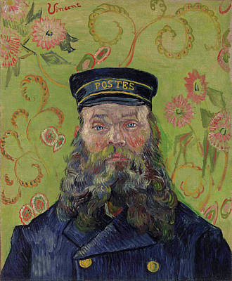 Aged Painting - The Postman, Joseph-etienne Roulin by Vincent van Gogh
