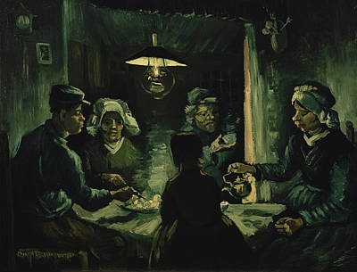 The Potato Eaters 1885 Art Print