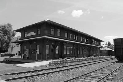 The Potlatch Train Station Art Print by Matt McCune